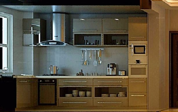 廚房櫥柜新中式風格裝修設計圖片