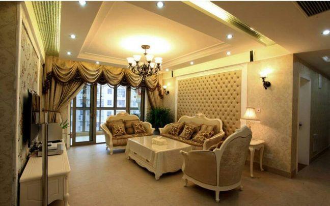 客廳吊頂歐式風格裝飾效果圖
