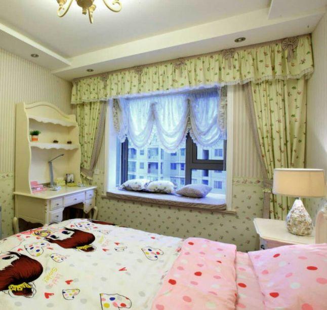 臥室窗簾歐式風格裝潢效果圖