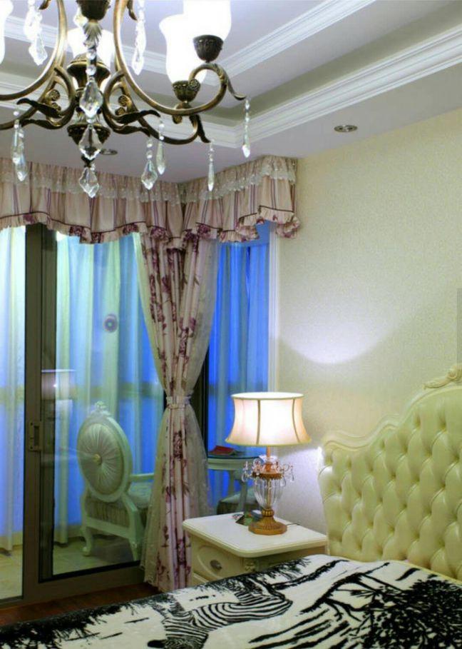 臥室背景墻歐式風格裝修圖片