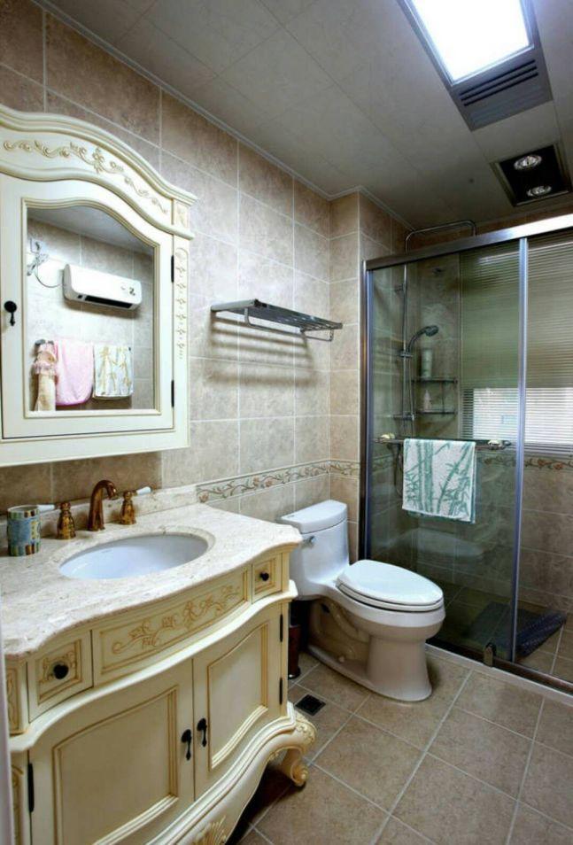 衛生間地磚歐式風格裝潢圖片