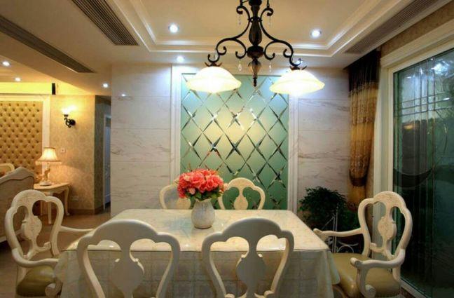 餐廳餐桌歐式風格裝潢設計圖片