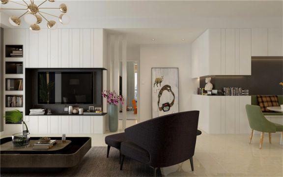 客廳電視柜現代風格裝潢設計圖片