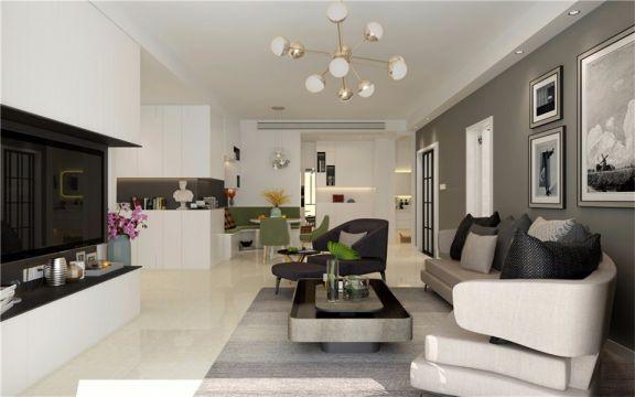 客廳照片墻現代風格裝飾效果圖