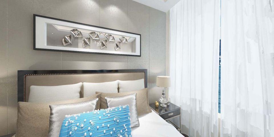 臥室背景墻現代風格裝潢圖片