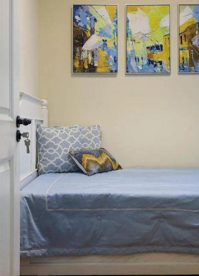 臥室背景墻美式風格裝潢效果圖