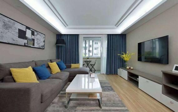 112平現代風格三居室裝修效果圖