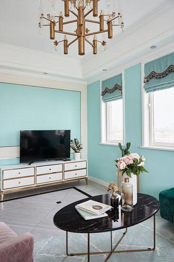 客廳電視柜混搭風格裝修設計圖片