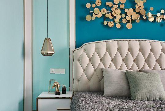 臥室背景墻混搭風格效果圖