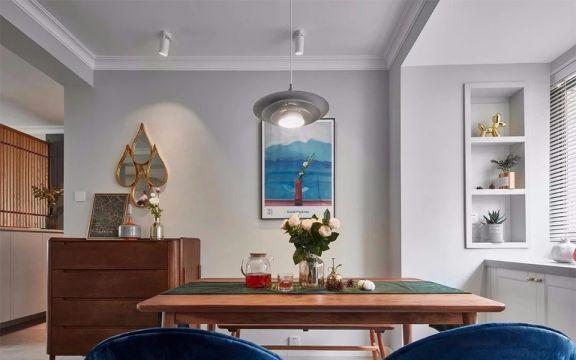 餐廳餐桌北歐風格裝潢設計圖片