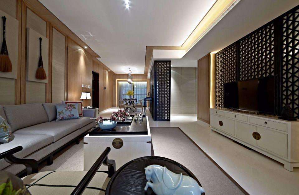 135平中式風格四居室裝修效果圖