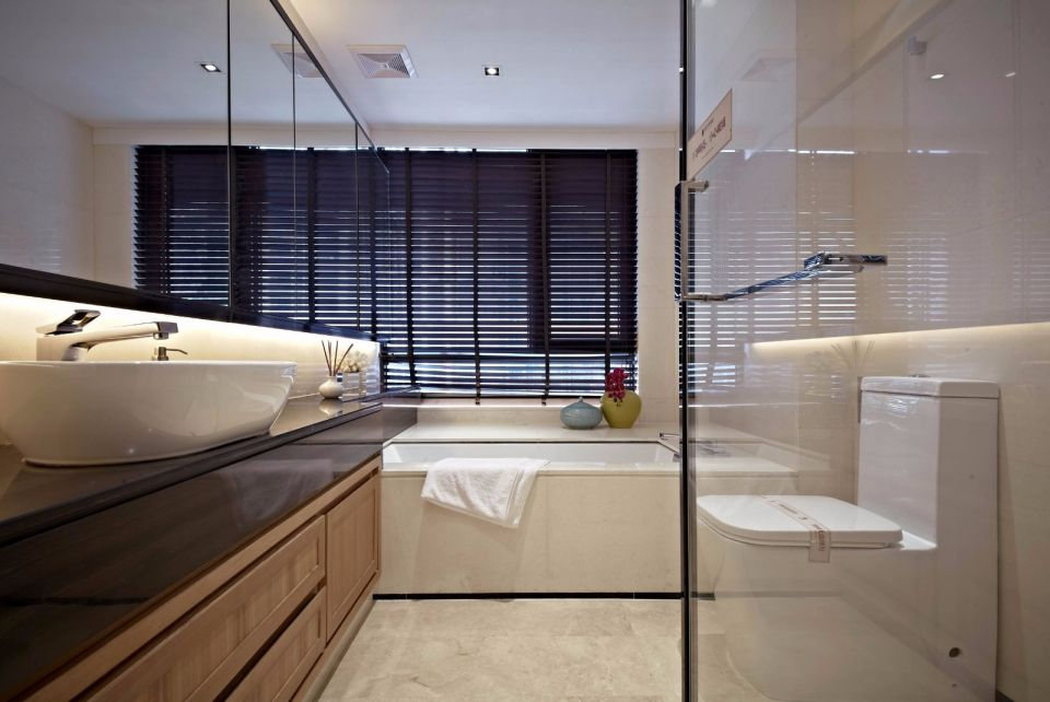 衛生間洗漱臺中式風格裝修設計圖片