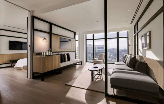 800平新中式风格酒店装修效果图
