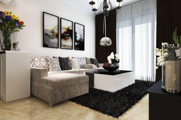 客厅灰色沙发混搭U乐国际优乐娱乐官网欢迎您