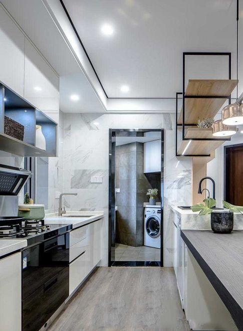 廚房白色吊頂簡歐風格裝飾效果圖