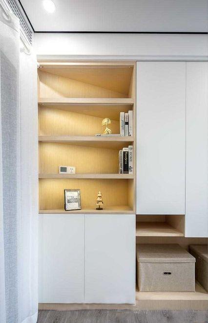 書房黃色書架簡歐風格裝修圖片