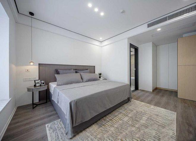 臥室灰色床簡歐風格裝潢圖片