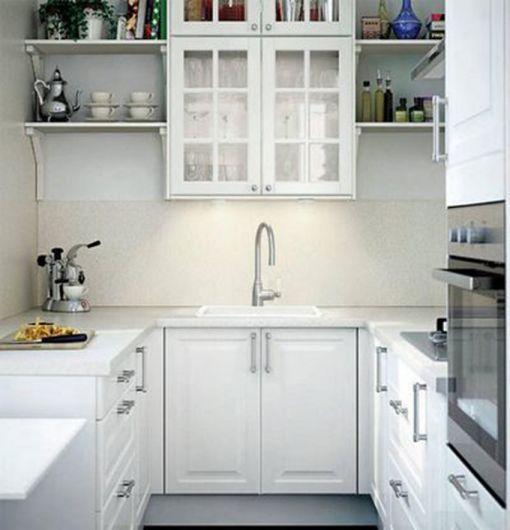 厨房白色整体橱柜装饰图片