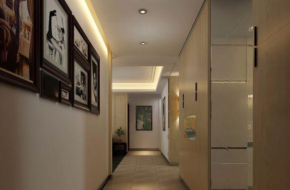 玄關米色走廊田園風格裝潢設計圖片