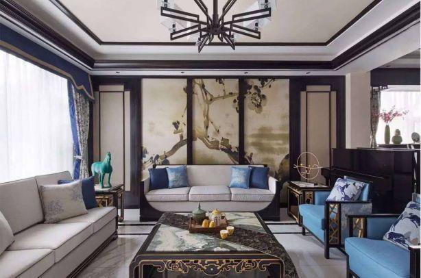 150平新中式风格套房装修效果图
