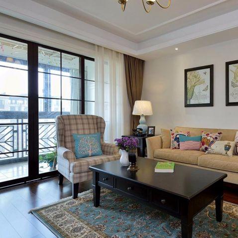 274平美式风格四居室装修效果图