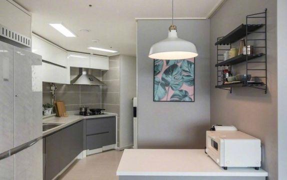 廚房白色吊頂北歐風格裝飾圖片