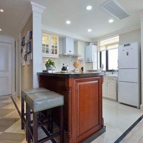 廚房米色吊頂美式風格裝修設計圖片
