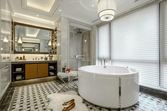 浴室白色浴缸簡歐風格效果圖