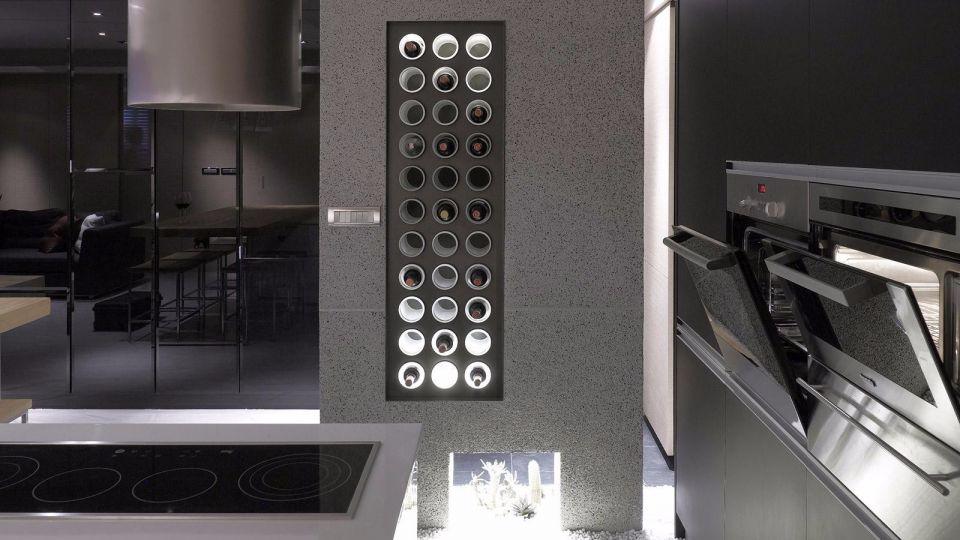 廚房灰色背景墻簡約風格裝修效果圖