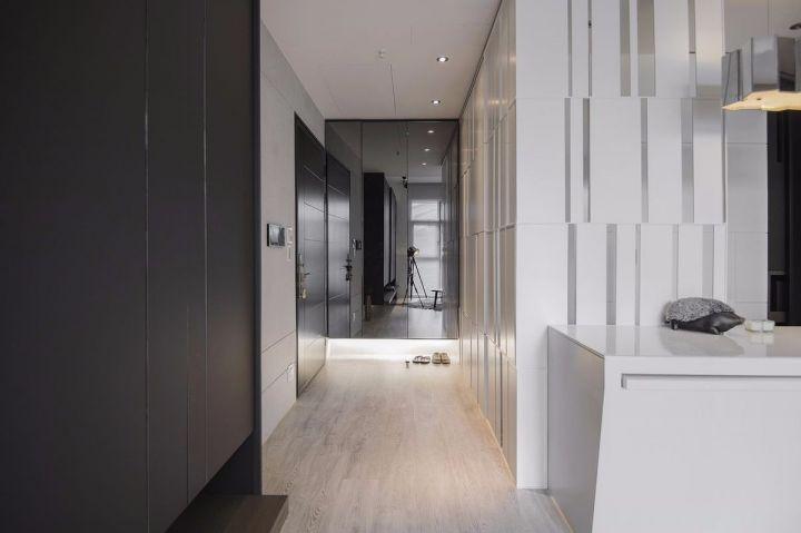 玄關咖啡色走廊簡約風格裝飾效果圖