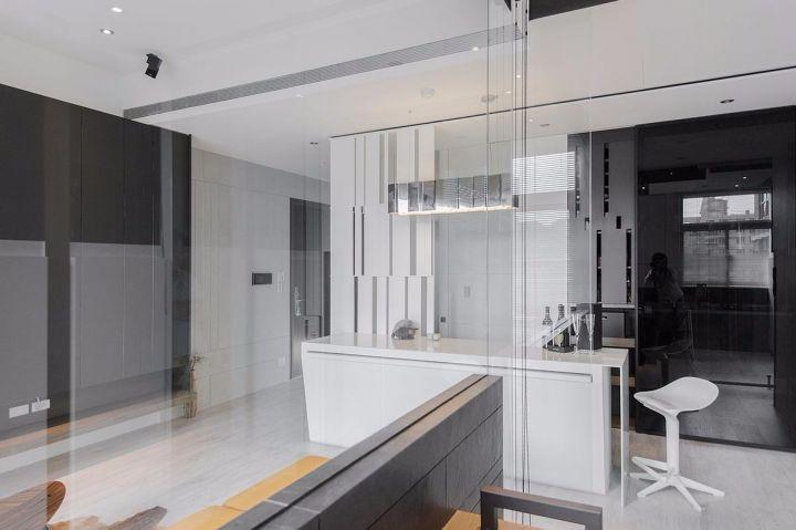 客廳白色吊頂簡約風格裝飾圖片