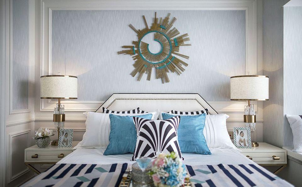 臥室米色床新古典風格效果圖