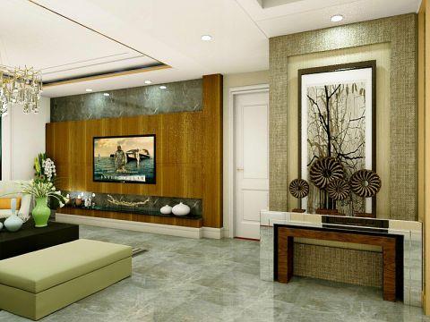 客廳白色吊頂簡歐風格裝飾效果圖