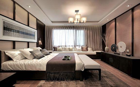 沉稳咖啡色卧室装修案例