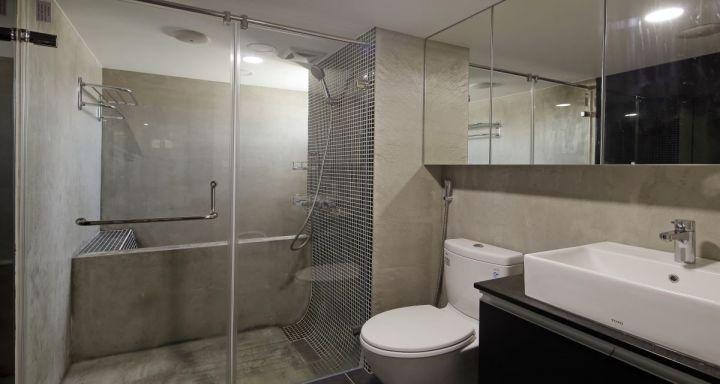 衛生間黑色洗漱臺后現代風格裝修效果圖
