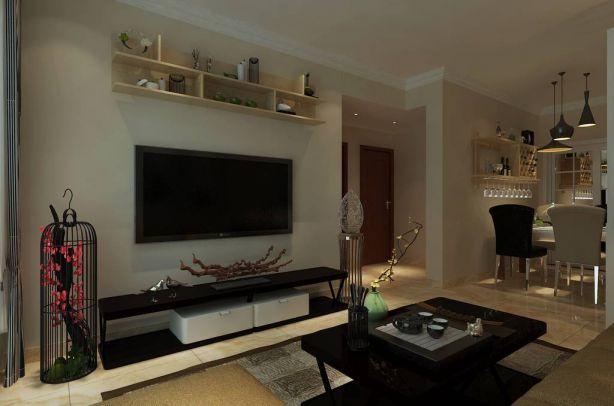 2021中式70平米设计图片 2021中式二居室装修设计