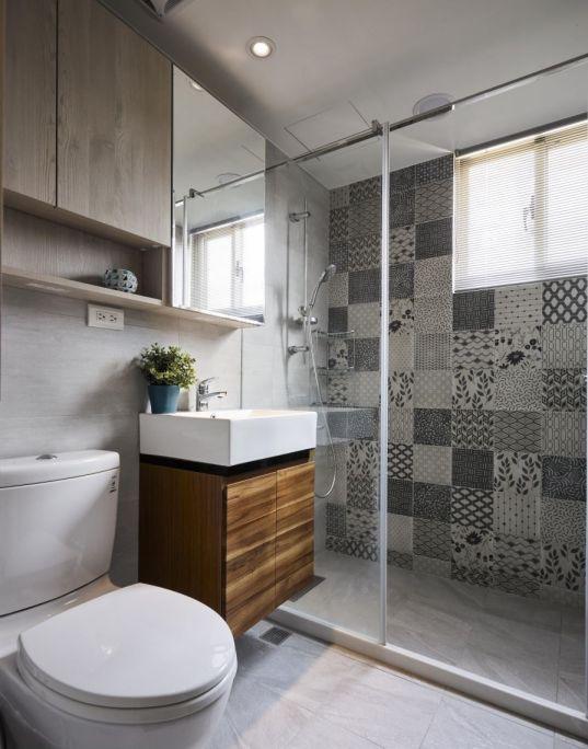 设计优雅白色卫生间装饰实景图片