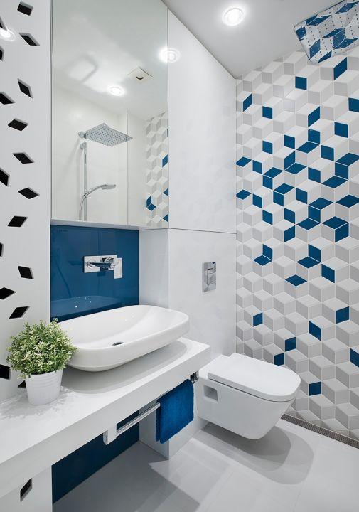 衛生間白色洗漱臺現代簡約風格效果圖
