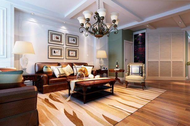 奢华大气简欧咖啡色沙发设计图欣赏