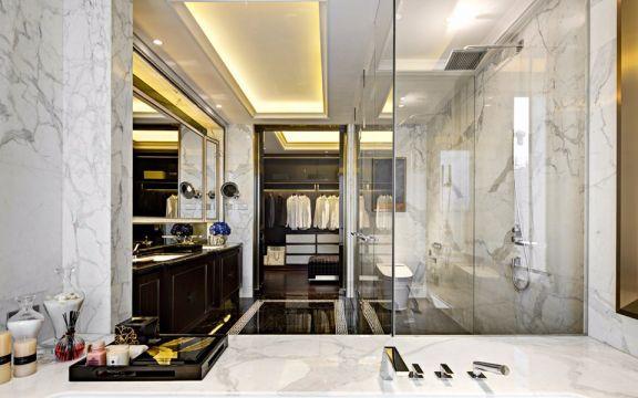 衛生間白色吊頂新古典風格裝飾效果圖