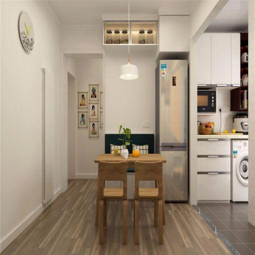 53平简约风格一居室装修效果图