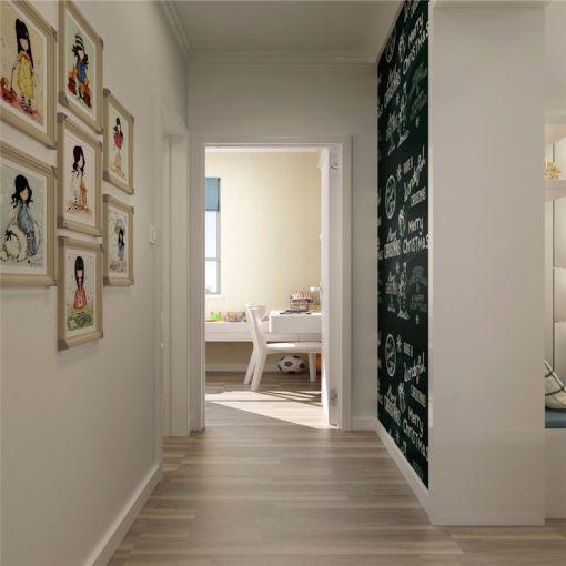 玄关照片墙简约风格装潢设计图片