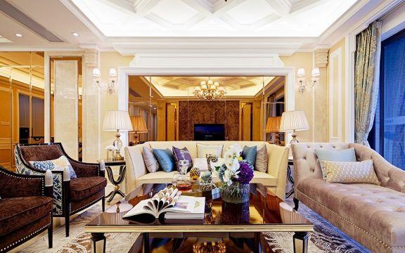客厅沙发欧式U乐国际装潢设计图片