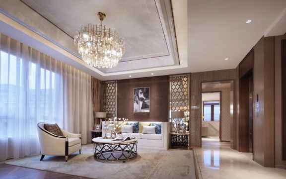 160平新中式风格套房装修效果图