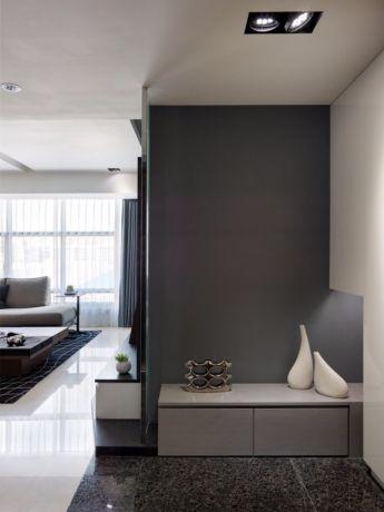 雅致灰色背景墙装潢实景图片