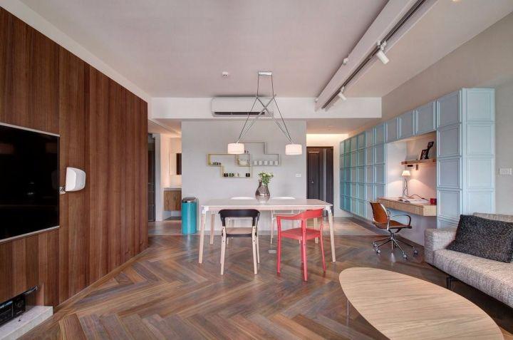 美感咖啡色客厅室内装修设计