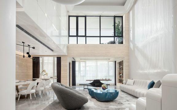 现代客厅背景墙装饰图