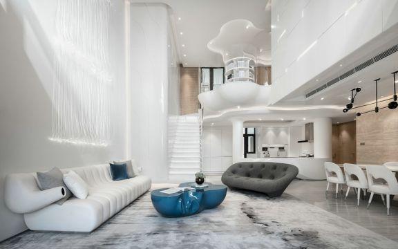 大气灰色客厅装修案例效果图