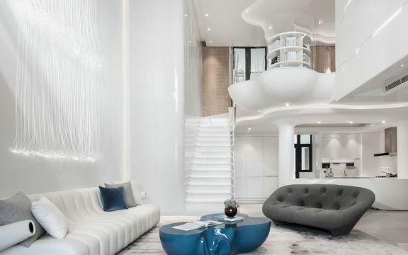 最新白色沙发装修图