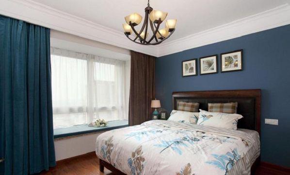 2018美式卧室装修设计图片 2018美式背景墙图片